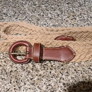 Lauren belt large tan leather/stretch new no tags